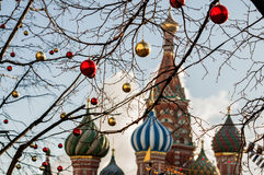 Christmas in Moscow Stock Images