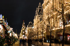 Christmas in Moscow, Russia. royalty free stock photography