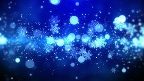 Christmas Motion Background Blue Theme With Snowflake Lights