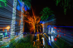 Christmas Motion. This is a composite photo consisting of 2 shots.  The first is a motion blur and the second is normal.  The picture was shot at the Phoenix Zoo Stock Image