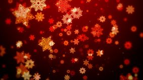 Christmas motion graphic background red theme, with snowflakes in stylish and elegant theme, looped