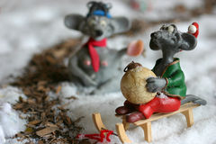 Christmas mouse royalty free stock photos