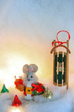 Christmas mouse Stock Images