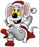 Christmas Mouse. Highly detailed and colored vector cartoons illustration Royalty Free Stock Photography