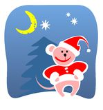 Christmas mouse Royalty Free Stock Photography
