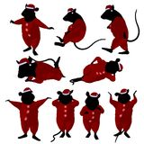 Christmas Mouse Illustration Stock Photography