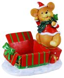 Christmas Mouse Toy box. Photo of a Christmas Mouse toy box for presents. The image contains clipping path stock images