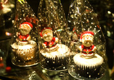 Christmas Muffin Royalty Free Stock Photography