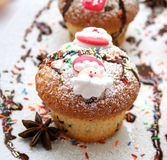 Christmas Muffin Royalty Free Stock Photos