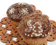 Christmas muffins Stock Photography