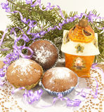 The Christmas muffins Stock Images