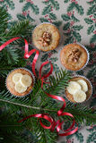 Christmas muffins Stock Image