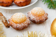 Christmas muffins with cinnamon Stock Images