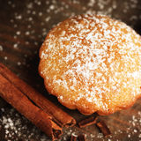Christmas muffins covered powdered sugar Royalty Free Stock Photography