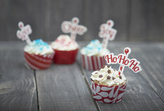 Christmas muffins Royalty Free Stock Photography