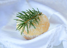 Christmas muffins Royalty Free Stock Photos