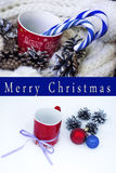 Christmas. Mug with  decorations Stock Photography