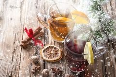 Christmas mull and punch Stock Image