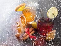 Christmas mull and punch Stock Photos