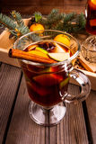 Christmas mulled wine with the addition of fragrant spices Stock Photo