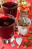Christmas mulled wine, cardamom, cloves, cinnamon, Stock Photography