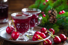 Christmas mulled wine. With cinnamon and anise stars Royalty Free Stock Photography