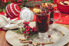 Christmas mulled wine Royalty Free Stock Images