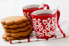 Christmas mulled wine and gingerbread Royalty Free Stock Photo