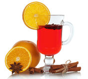 Christmas mulled wine in glass Stock Photography