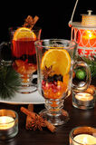 Christmas mulled wine. Ingredients folded beverage Stock Photography