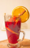 Christmas mulled wine isolated on white Stock Photography