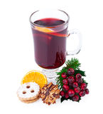 Christmas Mulled Wine or Punch Royalty Free Stock Images