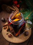 Christmas mulled wine and spices. Royalty Free Stock Image