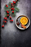 Christmas mulled wine and spices Royalty Free Stock Photos