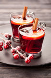 Christmas mulled wine with spices Royalty Free Stock Images