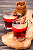 Christmas mulled wine with spices Stock Image