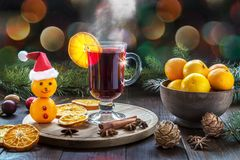 Image with mulled wine. Royalty Free Stock Image