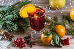Image with mulled wine. stock photo