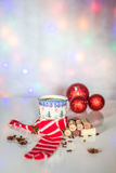 Christmas mulled wine on winter evenings Royalty Free Stock Photos