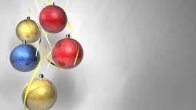 Christmas multicolor balls stock video