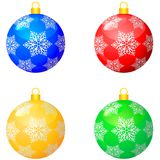 Christmas multicolor balls Royalty Free Stock Photo