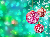 Christmas with multicolor baubles. EPS 8 Stock Photo