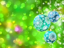 Christmas with multicolor baubles. EPS 8 Stock Image