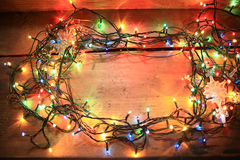 Christmas multicolor lights Royalty Free Stock Photography