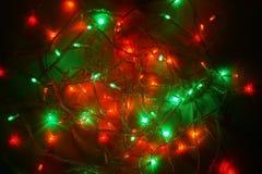 Christmas multicolor lights. Electric lights. Decorative garland