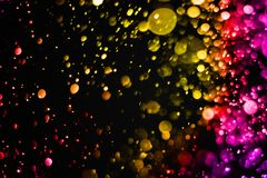 Christmas multicolor sparkle glitter explosion dust particles ba Royalty Free Stock Photos