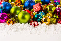 Christmas multicolored background stock photo