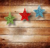 Christmas multicoloured stars Stock Image