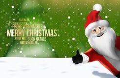 Christmas multilingual Santa Claus Thumbs Up 3D Render Royalty Free Stock Image