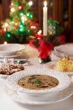 Christmas mushroom soup Stock Photos